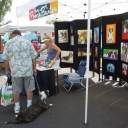 Dogs-owners at artists booth2012-Jill