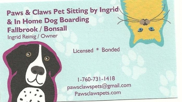 Paws & Claws In Home Dog Boarding